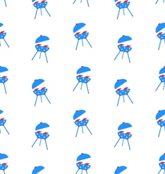 Seamless Texture Barbecue for Independence Day vector image