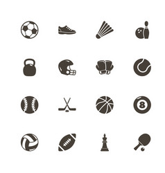 sport equipment - flat icons vector image
