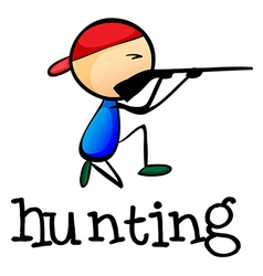 A stickman hunting vector image vector image