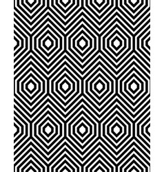 Abstract Black and White ZigZag Seamless Pattern vector image vector image