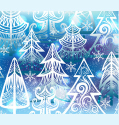 background with winter trees vector image vector image