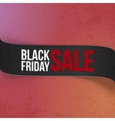 Black Friday Sale promo Ribbon for Your Design vector image