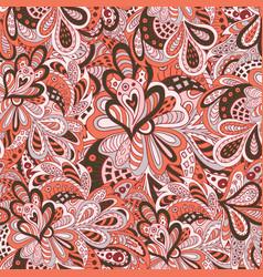 Doodle floral seamless pattern pastel tones vector