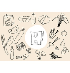 food scetch vector image vector image