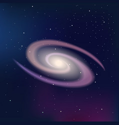Galaxy on a dark night starry sky vector image vector image