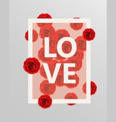 red roses floral design elements vector image