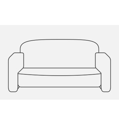 Schematically sofa Modern Flat style vector image