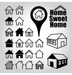 Set of home icons vector image vector image