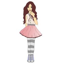 trendy teen girl vector image vector image