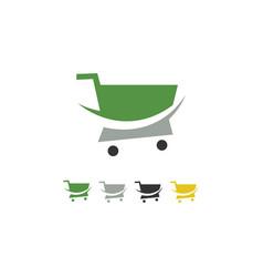 trolley shop logo vector image
