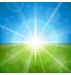 bright summer sun vector image vector image