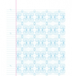 notebook doodle background vector image