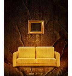 Retro interior with couch vector