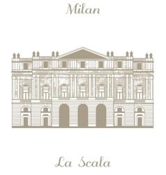 Teatro alla Scala in Milan vector image