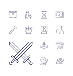 13 old icons vector
