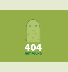 404 error page or file not found icon cute green vector