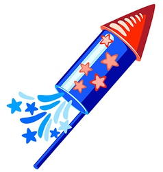 4th july blue rocket vector