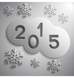 abstract grey circles for new year 2015 vector image