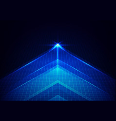 abstract technology glowing blue arrow forward vector image