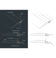 Aircraft wing structure and flaps systems vector