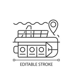 Atlantis submarines linear icon vector