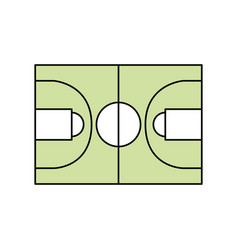 Basketball field symbol vector