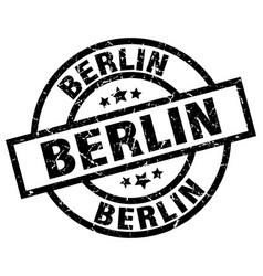 Berlin black round grunge stamp vector