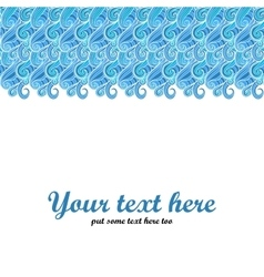 Blue swirl abstract vector
