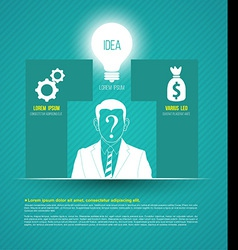business concepts with icons can use for infograph vector image