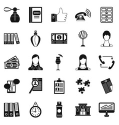 Business studio icons set simple style vector