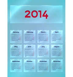 Calendar On The Glass vector image
