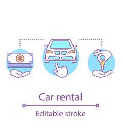 car rental concept icon vector image