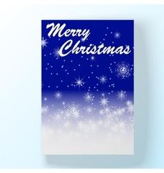 Christmas hollyday card 2 vector image