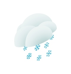 Cloud and snowflakes icon isometric 3d style vector image