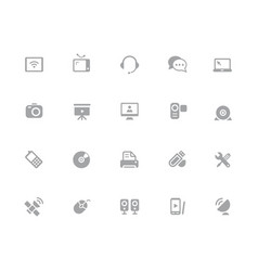 communication icons 32 pixels icons white series vector image