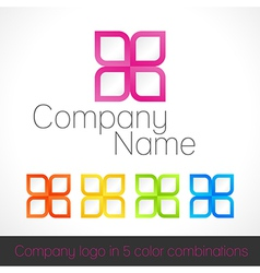 Company logo in five color combinations vector