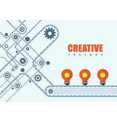 Creative idea factory vector