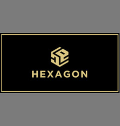 de hexagon logo vector image