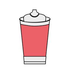 delicious fresh soda plastic cup vector image
