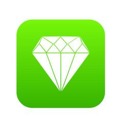diamond icon digital green vector image