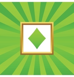Diamonds picture icon vector