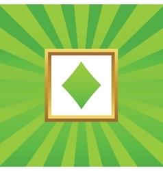 Diamonds picture icon vector image