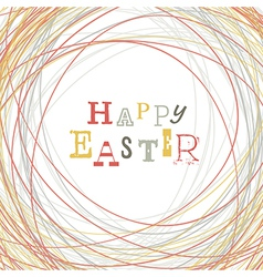 easter greeting card nest symbolic vector image