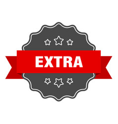 Extra red label extra isolated seal extra vector