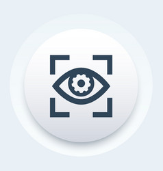 eye with gear icon vector image