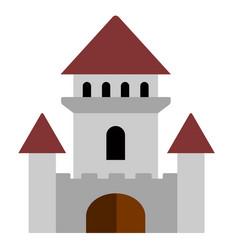 Fantastic castel icon vector