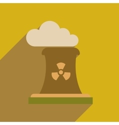 Flat web icon with long shadow air pollution vector