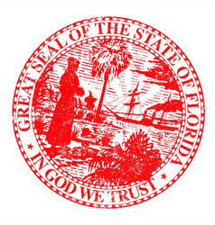 florids state seal vector image