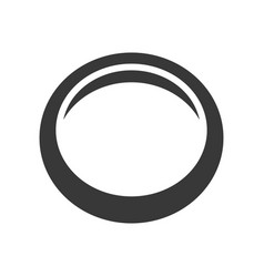 Gold simple ring or cuff jewelry icon glyph style vector