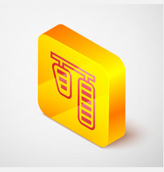 isometric line car gas and brake pedals icon vector image